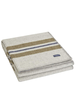 Cabin Wool Throw - smoke/olive/heather/navy