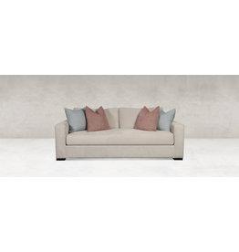 "Gia Sofa, 87"" w x 40"" d x 37"" h, Wenge Finish, Down Cushion, 49530 Fabric 2650-C"