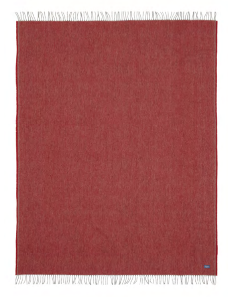 Ashby Twill Throw - red