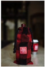 Coffee Sleeve - red/black