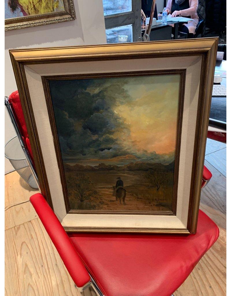 Bruer Cowboy Painting *CS