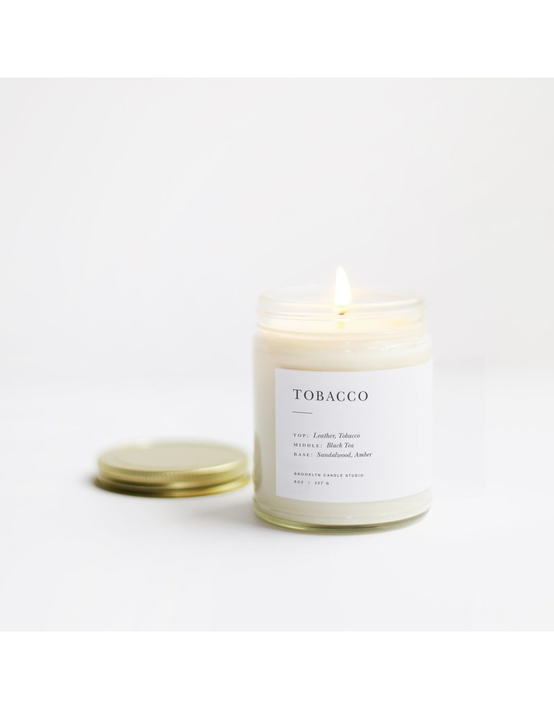 Brooklyn Candle Studio Tobacco Minimalist  Candle Collection