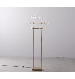 Soap Floor Lamp Brass