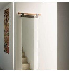 "Hook Wall Mirror - Brown 87"" x 24"""