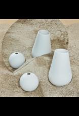 Versa Vase Collection - Sphere - Citron/White