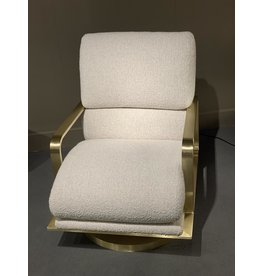 Swivel Lounge Chair - satin brass
