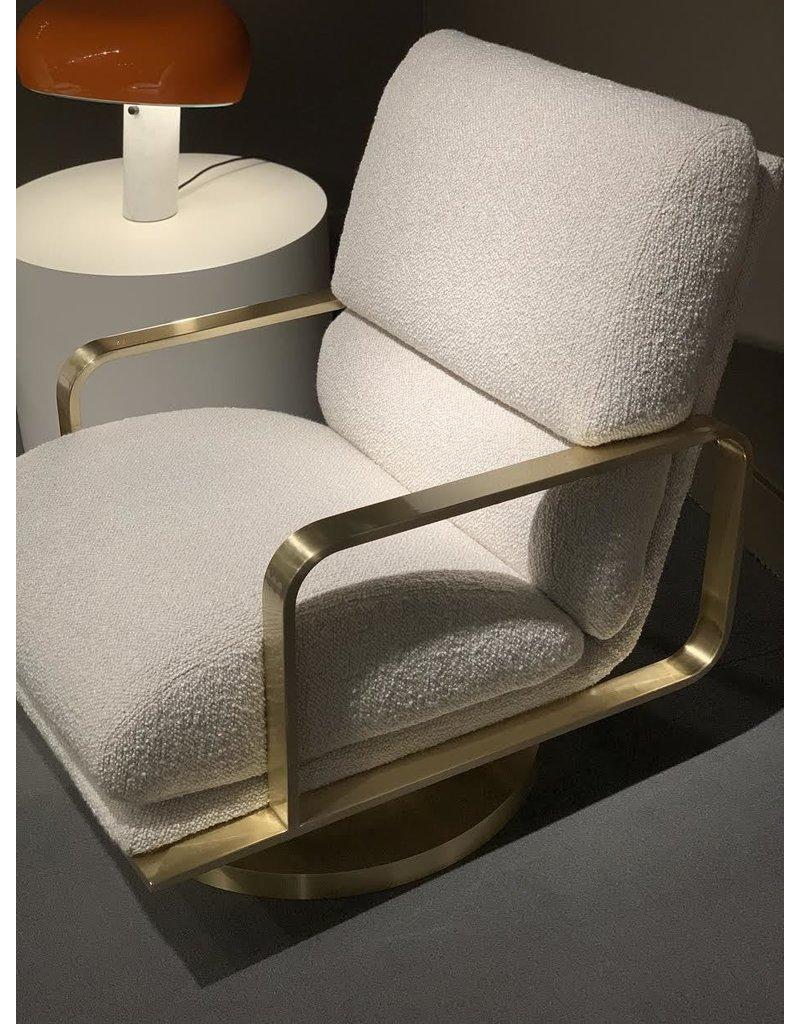 Swivel Lounge Chair - satin brass