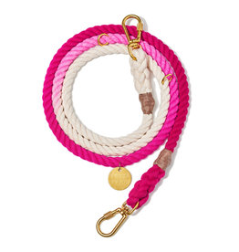 Adjustable Leash - Magenta Ombre MED