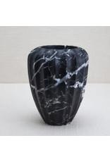 Kelly Wearstler   Fluted Small Vase Black