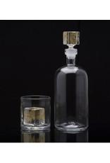 Cotterman Cube Glass Rock Gold
