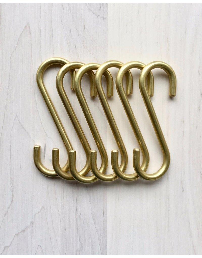 Carter Brass S Hooks - small - set 12