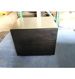 NT Lacquered Glass Top Blackened Birch / Fog  - Auction Item