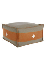 Swiss Army Pouf 24 x 24 x 13 gray/orange