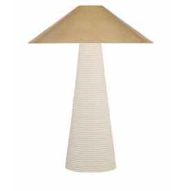 Miramar Table Lamp in Porus White w/ Brass shade