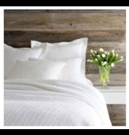 Hardwood White Matelasse Coverlet Queen