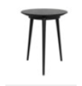 Tripod Side Table, Charcoal Black AE-19CHB