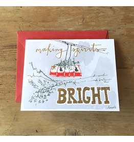 Foil Greeting Card - Tram Holiday