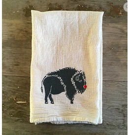 Tea Towel - Red Nose Animal - Buffalo, bear, elk, moose
