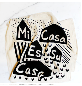 Mi Casa Es Su Casa Printed Tea Towel - colored