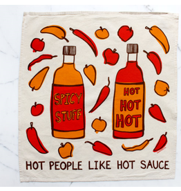 Hot People Like Hot Sauce Printed Tea Towel