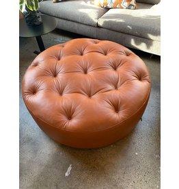 Leather Wheel Pouf