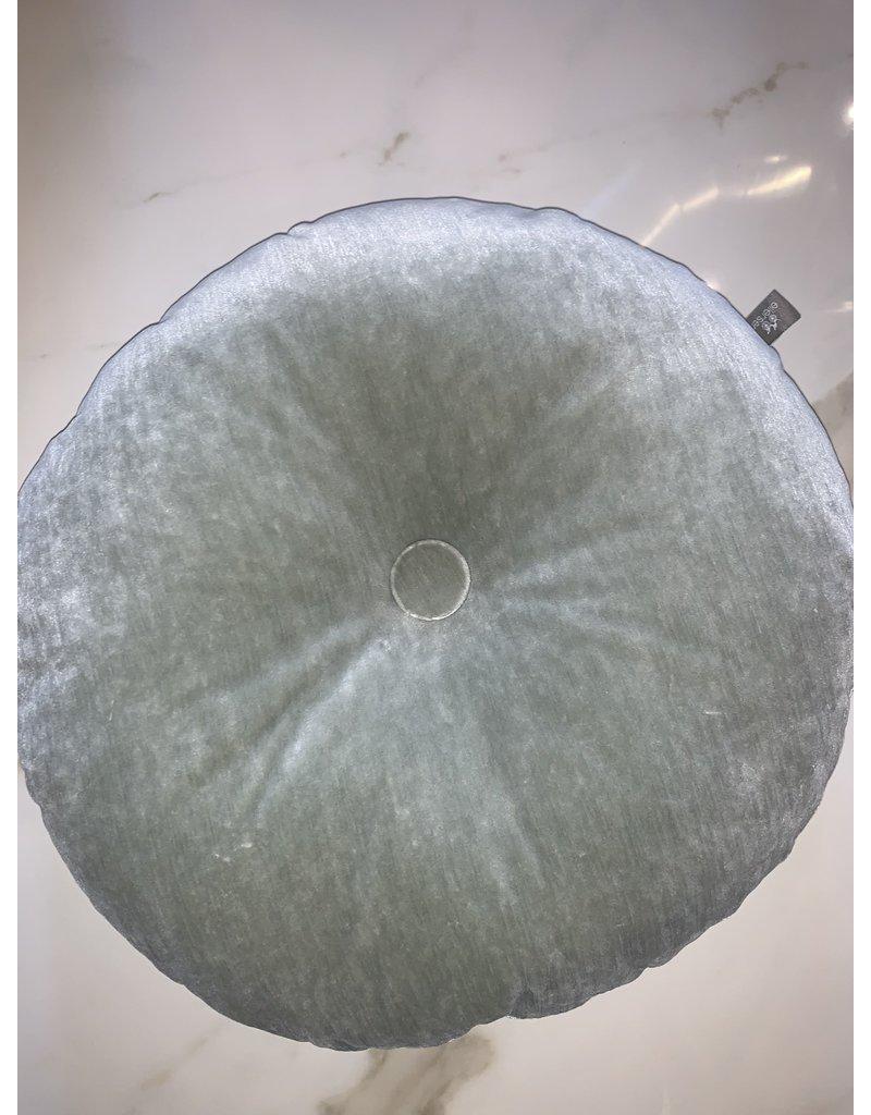 "Round Mint Pillow 17"""