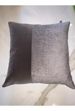 Brown/ Silver Pillow  18x20