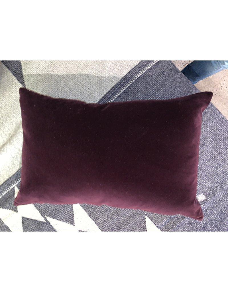 Deep Purple Pillow 12x22