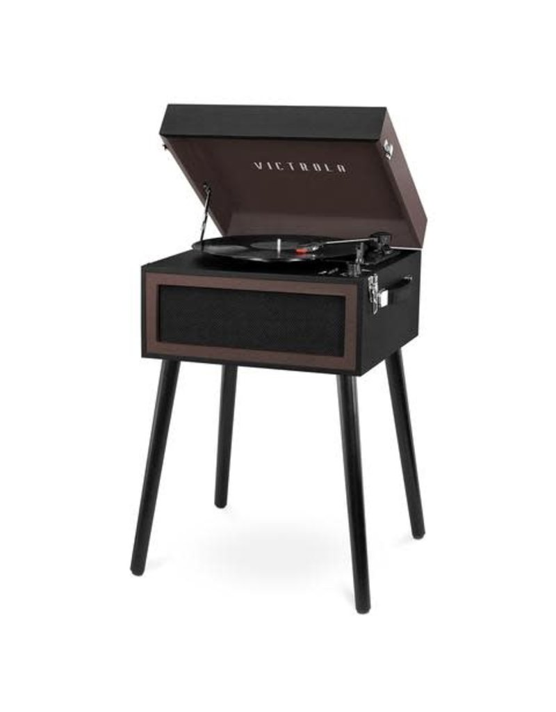 Bluetooth Record Player Stand w/ 3 speed turntable - Espresso
