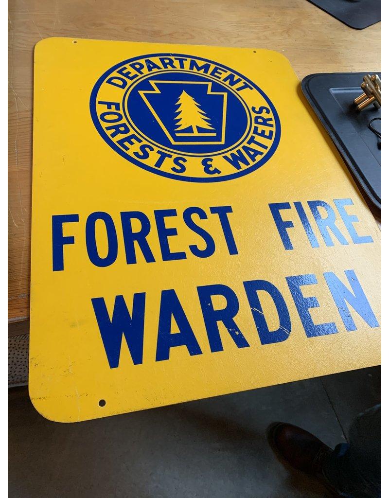 Forest Fire Warden Sign - 1960s *CS