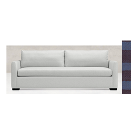 """Thursday Taper Arm Sofa, 86"""" long,  finish:black, fabric: 3377-I"""