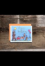 Greeting Card - Happy Birthday Animal Parade
