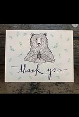 Greeting Card - Thank You Bear