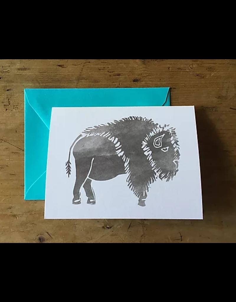 Greeting Card - Bison