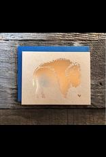 Greeting Card - FOIL bison