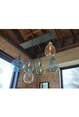 7 Light Glass Canopy Chandelier
