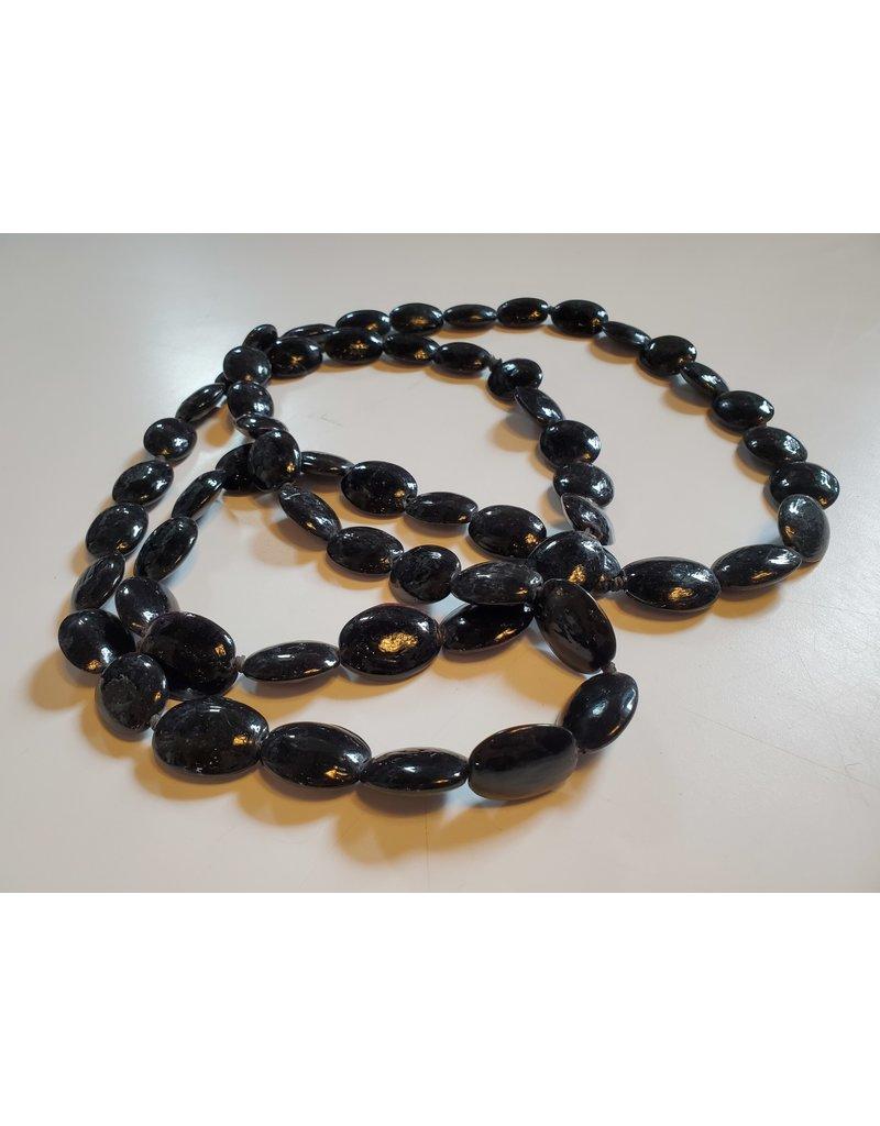 Black Cross Bead Strand 6'