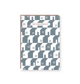 Blocky New House Congrats Card