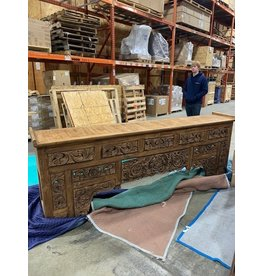 Moroccan Carved Wooden Console 35 x 96 x 16