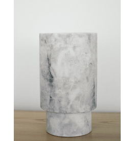 Cilindro Alto in Grey Marble