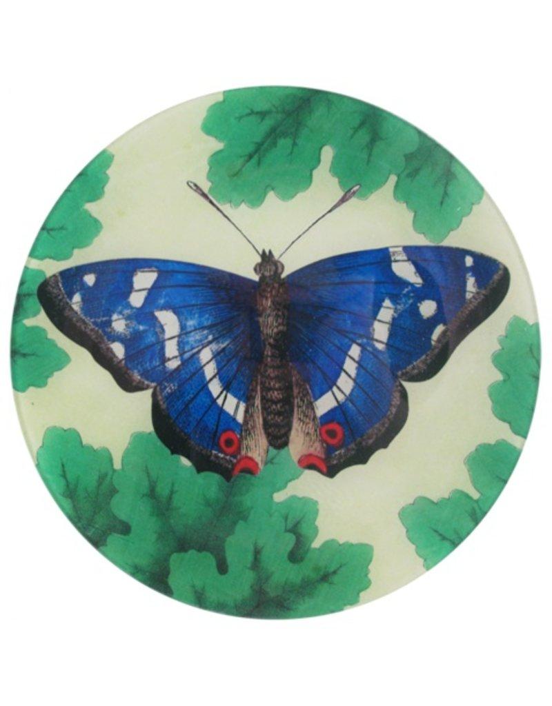 John Derian   Meadow Butterfly, Round