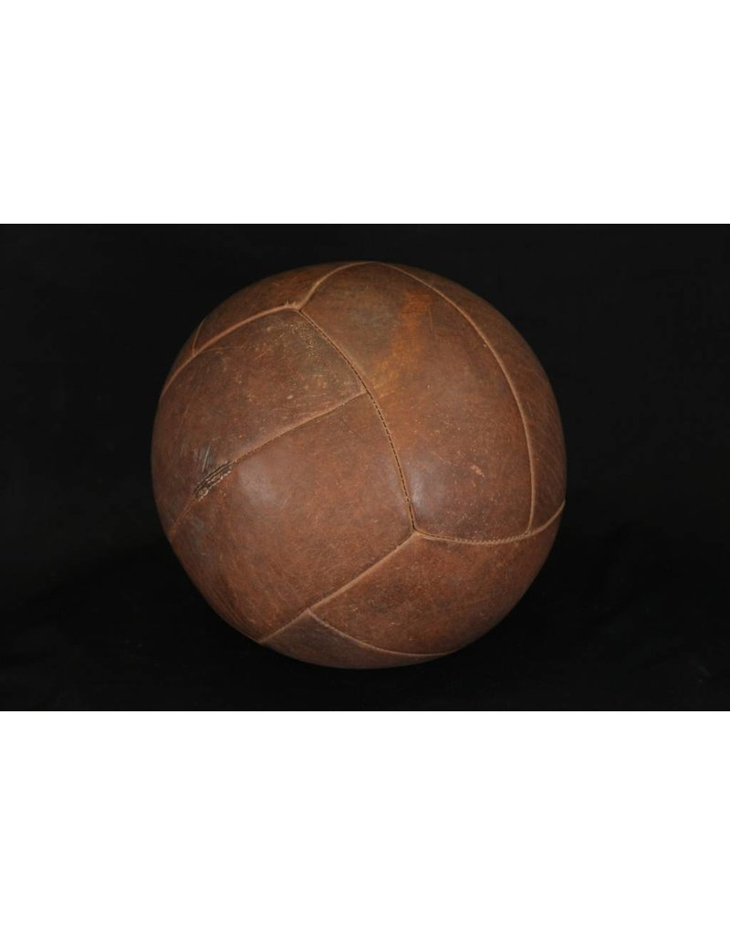 Large Dark Brown Vintage Medicine Ball
