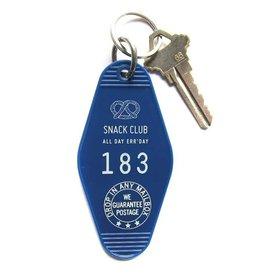 Key Tag - Snack Club - Blue