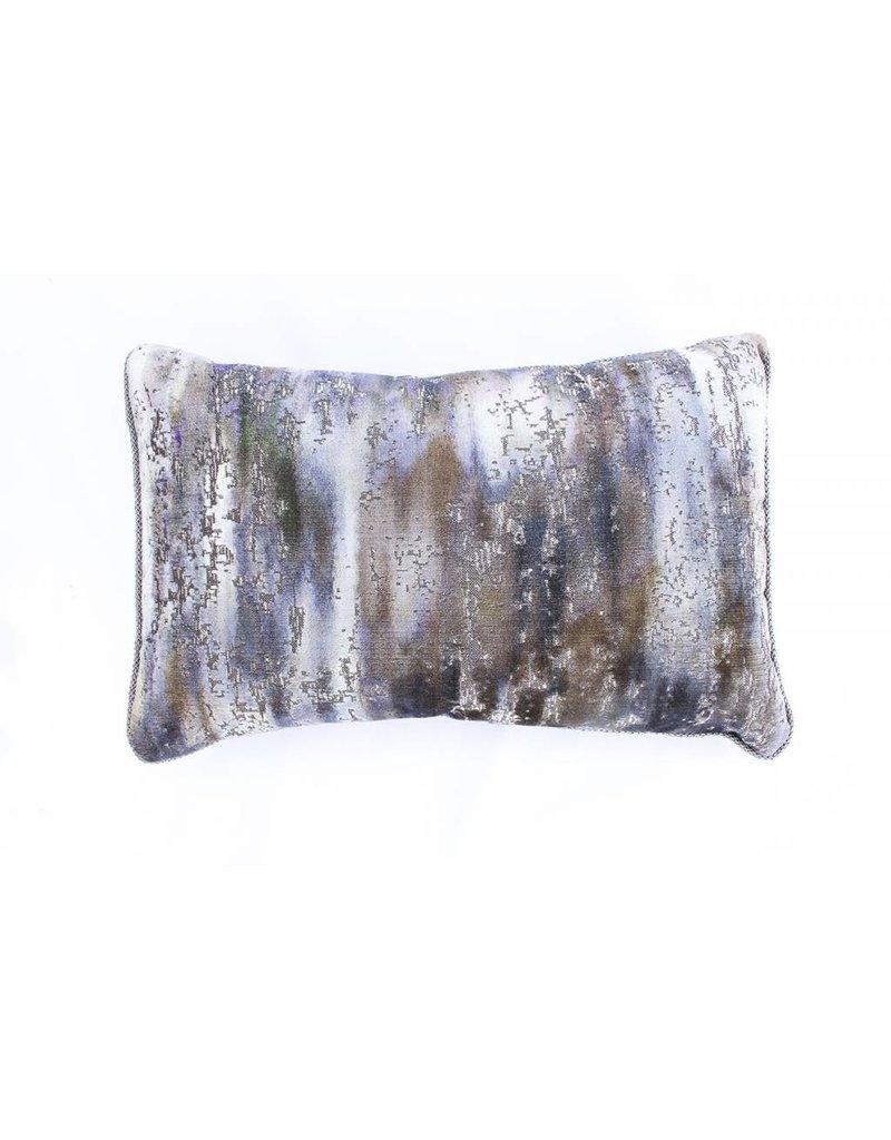 Mossy Pillow | Lumbar | Green + Brown + Blue