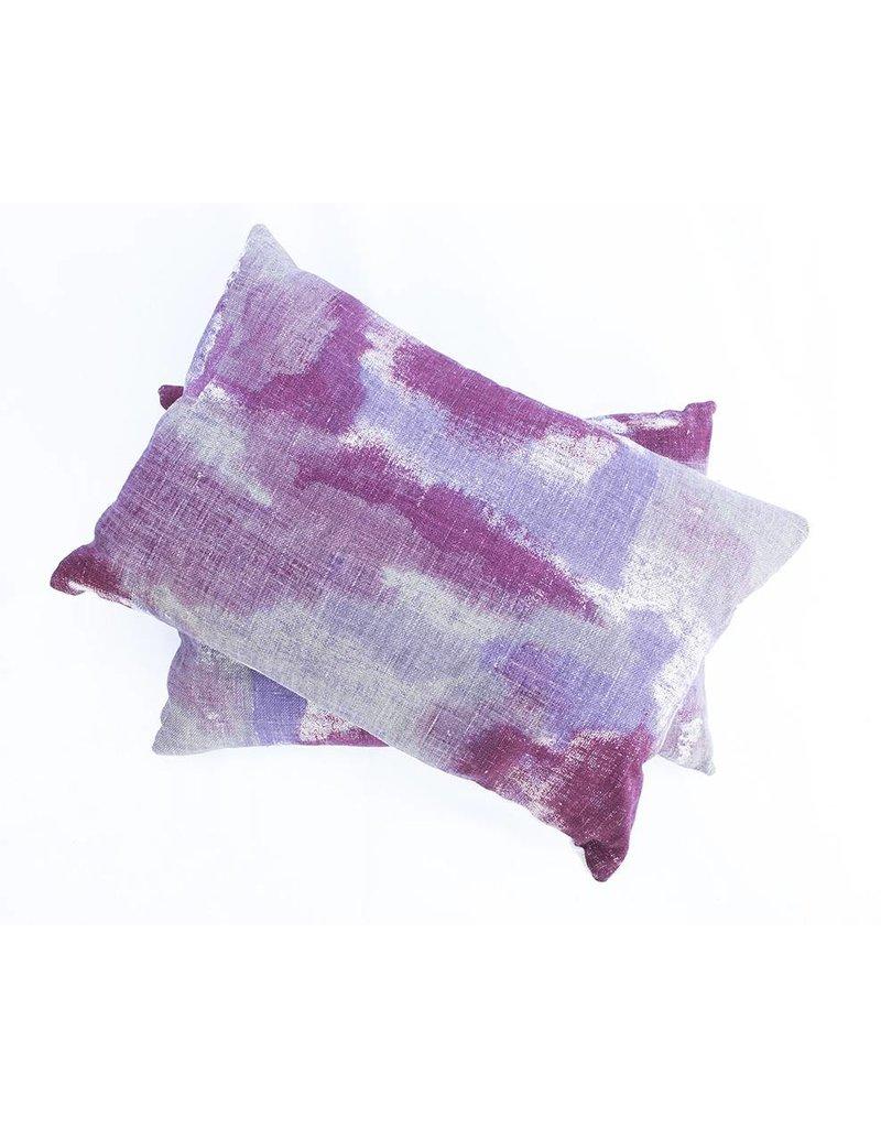 Gleam Pillow | Lumbar | Purple + Cranberry