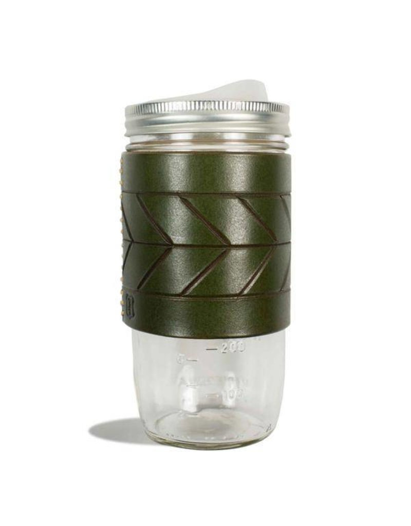 Tactile Chevron Travel Mug Green