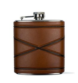 Crossed Borders Flask, Blue