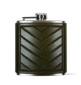Chevron Flask, Green