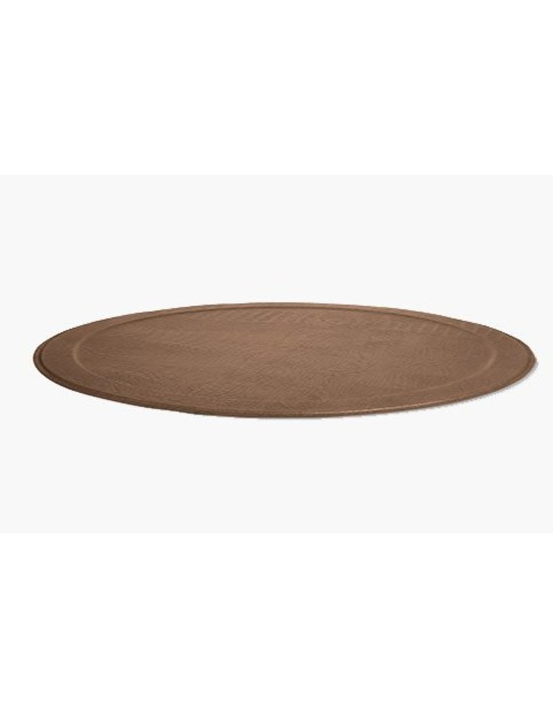 XL Round Tray CROCO, Taupe