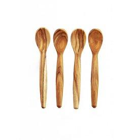 Olive Wood Mini Spoons s/o 4
